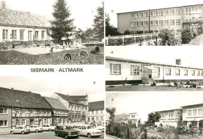AK / Ansichtskarte Bismark Altmark Kinderkrippe Markt Werner Seelenbinder Oberschule  Kat. Bismark Altmark