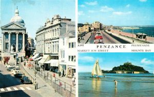AK / Ansichtskarte Penzance Market Jew Street Promenade Mounts Bay