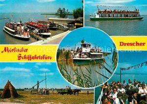 AK / Ansichtskarte Moerbisch See Schiffahrtsbuero Drescher Hafen Kat. Moerbisch am See