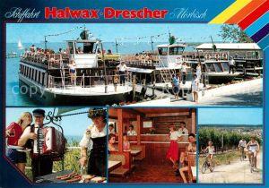 AK / Ansichtskarte Moerbisch See Schiffahrt Halwax Drescher Kat. Moerbisch am See