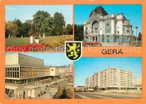 AK / Ansichtskarte Gera Park Schloss Stadtplatz Wohnblocks Kat. Gera