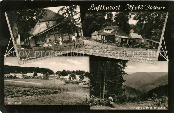 AK / Ansichtskarte Ilfeld Suedharz Hufhaus Christianenhaus Sophienhof  Kat. Ilfeld Suedharz