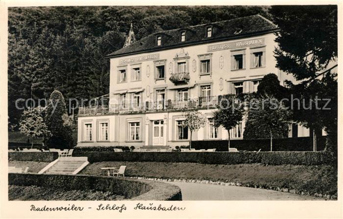 AK / Ansichtskarte Badenweiler Schloss Hausbaden Kat. Badenweiler