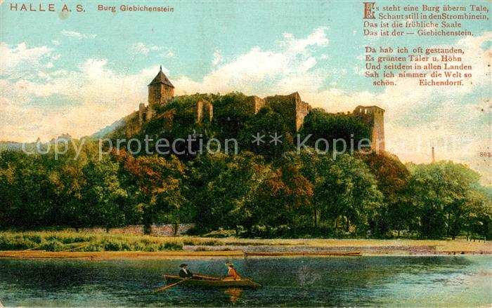 AK / Ansichtskarte Halle Saale Burg Giebichenstein Kat. Halle