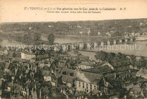 AK / Ansichtskarte Tours Indre et Loire Vue generale vers St Cyr prise de la Cathedrale Kat. Tours