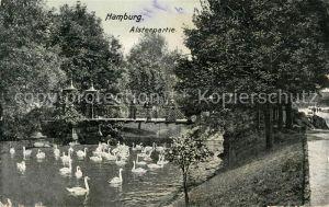 AK / Ansichtskarte Hamburg Alsterpartie Kat. Hamburg