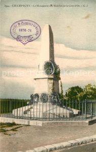 AK / Ansichtskarte Champigny Marne Monument des Mobiles de la Cote d Or Kat. Champigny