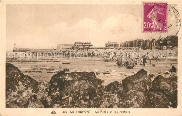 AK / Ansichtskarte Le Treport La Plage et les rochers Kat. Le Treport