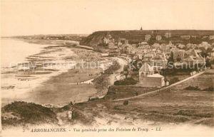 AK / Ansichtskarte Arromanches les Bains Vue generale prise des Falaises de Tracy Kat. Arromanches les Bains