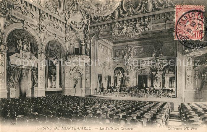 AK / Ansichtskarte Monte Carlo Casino La Salle des Concerts Kat. Monte Carlo