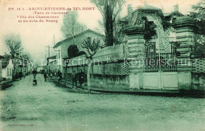 AK / Ansichtskarte Saint Etienne de Tulmont Villa des Chaumettes et un coin du Bourg Kat. Saint Etienne de Tulmont