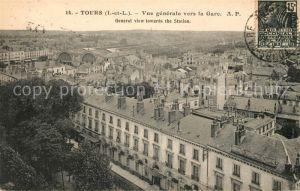 AK / Ansichtskarte Tours Indre et Loire Vue generale vers la Gare Kat. Tours