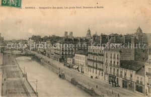AK / Ansichtskarte Rennes Perspective des quais Les ponts Neuf Nemours et Berlin Kat. Rennes