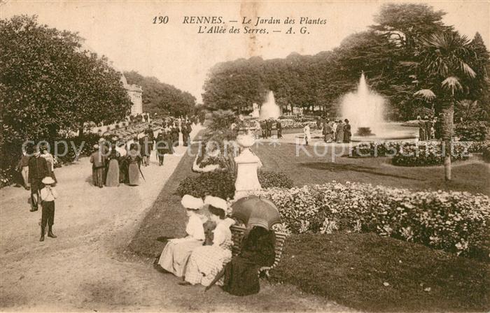 AK / Ansichtskarte Rennes Le Jardin des Plantes Allee des Serres Kat. Rennes