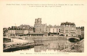 AK / Ansichtskarte Rennes Place de la Croix de la Mission et Gare de Tramways Kat. Rennes