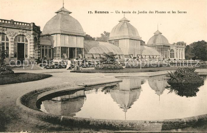 AK / Ansichtskarte Rennes Un bassin du Jardin des Plantes et les Serres  Kat. Rennes
