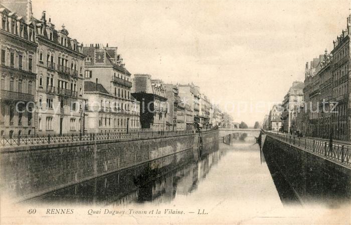 AK / Ansichtskarte Rennes Quai Duguay Trouin et la Vilaine Kat. Rennes