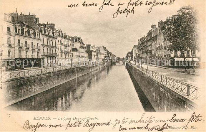 AK / Ansichtskarte Rennes Le Quai Duguay Trouin Kat. Rennes