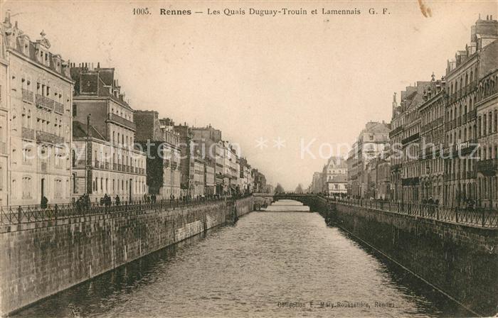 AK / Ansichtskarte Rennes Les Quais Duguay Trouin et Lamennais Kat. Rennes