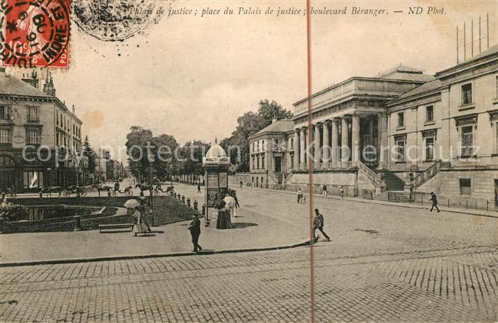 AK / Ansichtskarte Tours Indre et Loire Palais de Justice Place du Palais de Justice Boulevard Beranger Kat. Tours