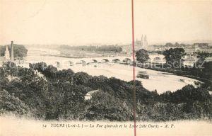 AK / Ansichtskarte Tours Indre et Loire Vue generale et la Loire Kat. Tours