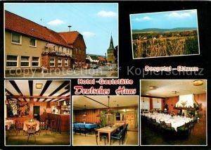 AK / Ansichtskarte Despetal Hotel Gaststaette Deutsches Haus Gastraeume Speisesaal Kat. Despetal