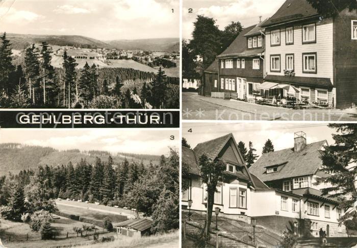AK / Ansichtskarte Gehlberg Cafe Greiner Hauptstrasse Waldbad Erholungsheim Haus Daheim Kat. Gehlberg