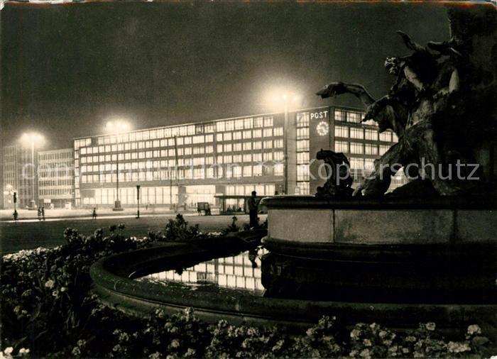 AK / Ansichtskarte Leipzig Postamt Karl Marx Platz Kat. Leipzig