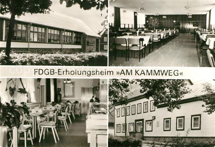 AK / Ansichtskarte Neustadt Rennsteig Erholugsheim Am Kammweg Gaststaette Zum Goldenen Frosch Kat. Neustadt Rennsteig