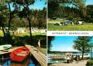 AK / Ansichtskarte Altenhof Werbellinsee Campingplatz Faehrschiff