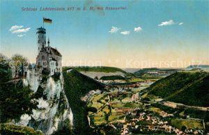 AK / Ansichtskarte Honau Lichtenstein Schloss Lichtenstein mit Honauertal Kat. Lichtenstein