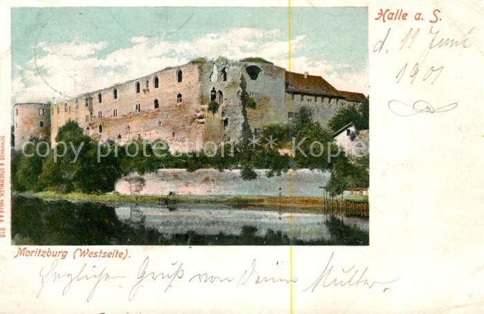 AK / Ansichtskarte Halle Saale Moritzburg Westseite Deutsche Reichspost Kat. Halle