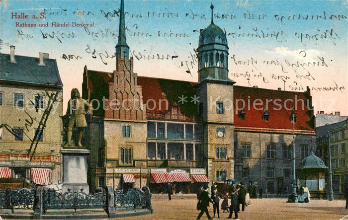 AK / Ansichtskarte Halle Saale Rathaus Haendel Denkmal Kat. Halle