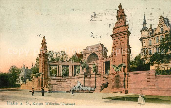 AK / Ansichtskarte Halle Saale Kaiser Wilhelm Denkmal Kat. Halle