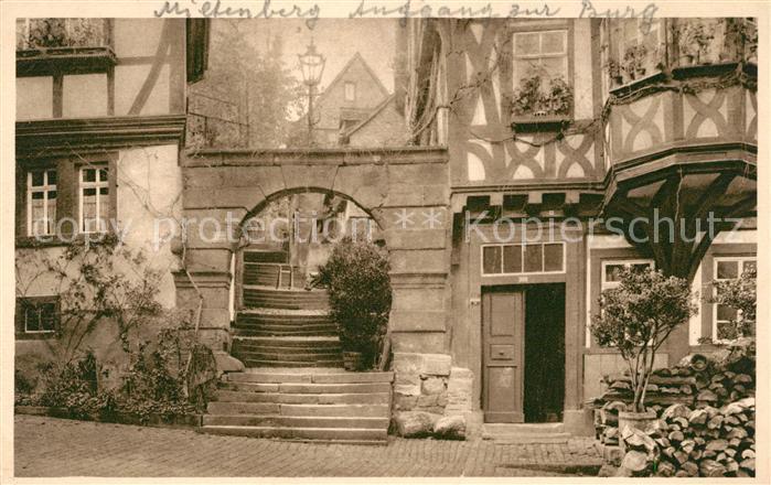 AK / Ansichtskarte Miltenberg Main Aufgang zur Burg Kat. Miltenberg