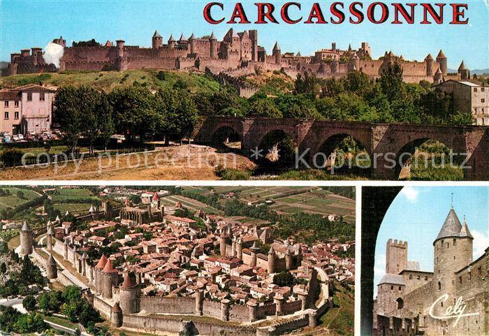 AK / Ansichtskarte Carcassonne Citee et le Pont Vieux Tour de Justice et la Tour Pinte Kat. Carcassonne
