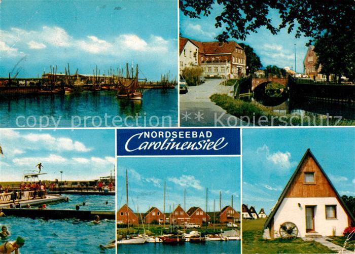 AK / Ansichtskarte Carolinensiel Ostfriesland Hafen Schwimmbad Kat. Wittmund