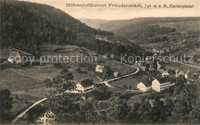 AK / Ansichtskarte Freudenstadt mit Christophstal Kat. Freudenstadt