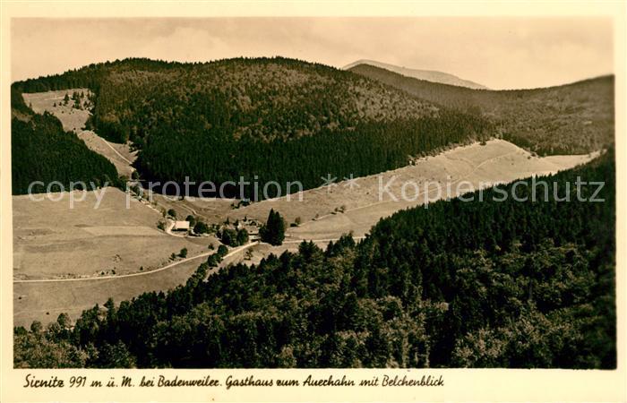 AK / Ansichtskarte Sirnitz Badenweiler Gasthaus zum Auerhahn mit Belchenblick