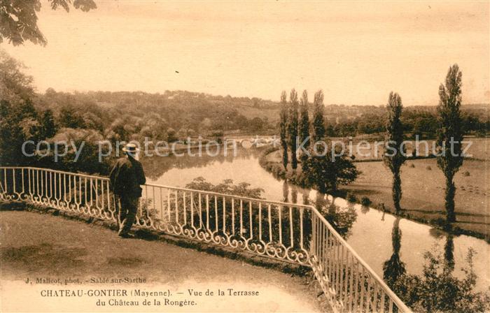 AK / Ansichtskarte Chateau Gontier Vue de la Terrasse du Chateau de la Rongere Kat. Chateau Gontier