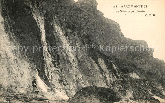 AK / Ansichtskarte Arromanches les Bains Les Sources petrifiantes Kat. Arromanches les Bains