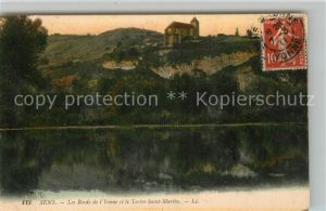 AK / Ansichtskarte Sens Yonne Les Bords de l'Yonne et le Tertre Saint Martin