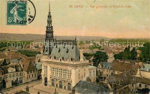 AK / Ansichtskarte Sens Yonne Vue generale et Hotel de Ville