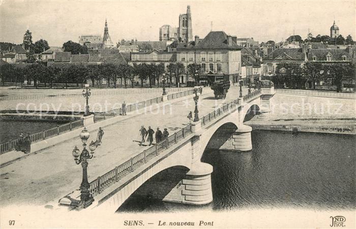 AK / Ansichtskarte Sens Yonne Le nouveau Pont