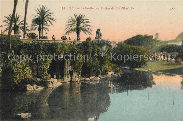 AK / Ansichtskarte Nice Alpes Maritimes La Grotte des Jardins du Roi Albert 1er Kat. Nice