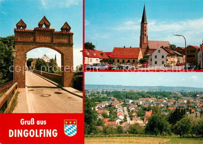 AK / Ansichtskarte Dingolfing Isar Panorama Stadttor