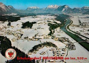 AK / Ansichtskarte Breitenbach Inn Fliegeraufnahme Winter Kat. Breitenbach am Inn
