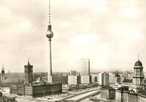 AK / Ansichtskarte Berlin Rathaus Fernseh  und UKW Turm  Kat. Berlin