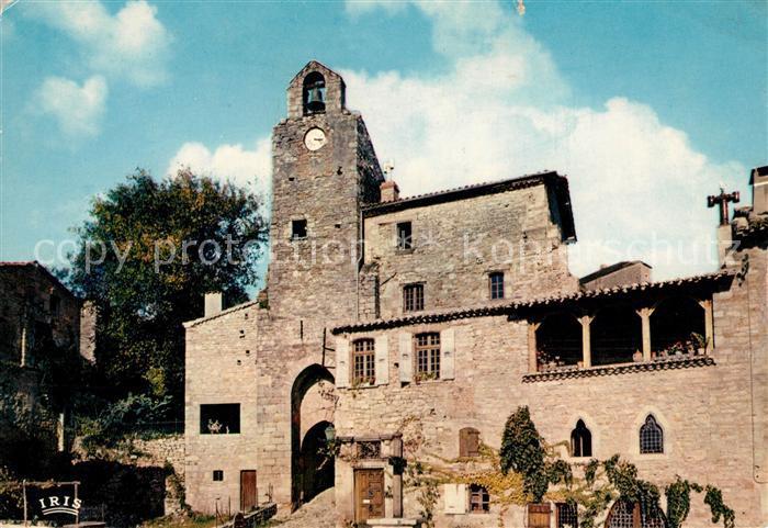 AK / Ansichtskarte Bruniquel Vieux bourg situe auf confluent de l'Aveyron La Tour de Horloge Kat. Bruniquel