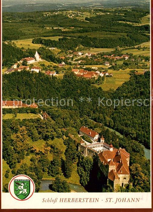 AK / Ansichtskarte St Johann am Tauern Schloss Herberstein Fliegeraufnahme Kat. St Johann in der Haide Steiermark